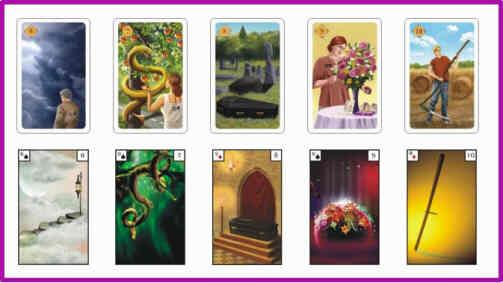 Lenormandkarten Bedeutung 6 - 10