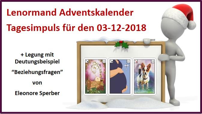 Lenormand Adventskalender 03-12-2018