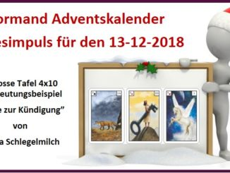 Lenormand Adventskalender 13-12-2018
