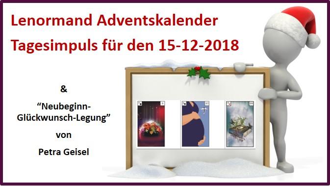 Lenormand Adventskalender 15-12-2018