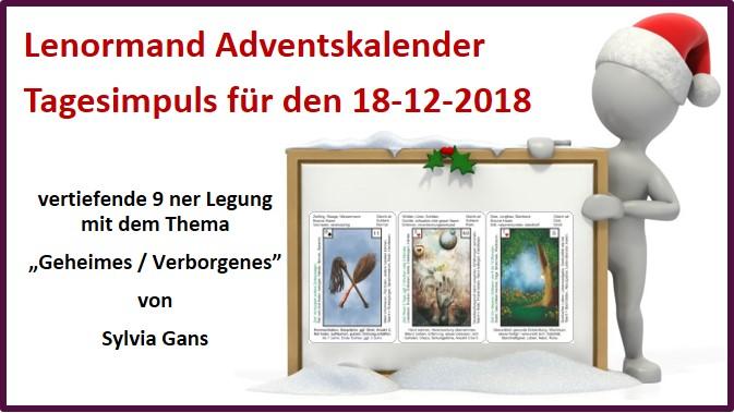 Lenormand Adventskalender 18-12-2018