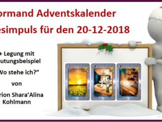 Lenormand Adventskalender 20-12-2018