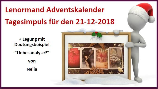 Lenormand Adventskalender 21-12-2018
