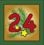 Kartenlegen Adventskalender Tuer 24