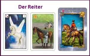 Lenormand Tageskarte Reiter