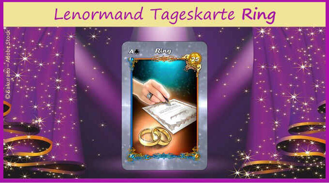 Lenormand Tageskarte Ring