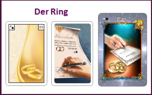 Lenormand Tageskarte Ring