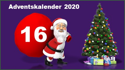 Adventskalendertuer 16 in 2020