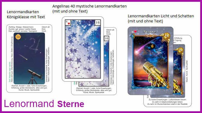 Lenormand Sterne - Kartendecks