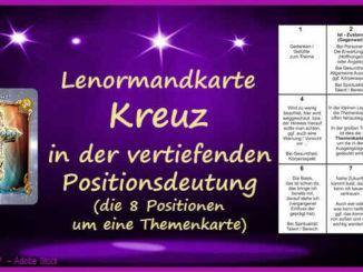 Lenormandkarte Kreuz Positionsdeutung