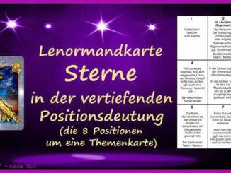 Lenormandkarte Sterne Positionsdeutung