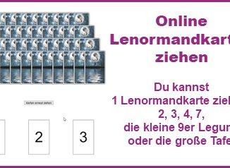 Online Lenormandkarte ziehen