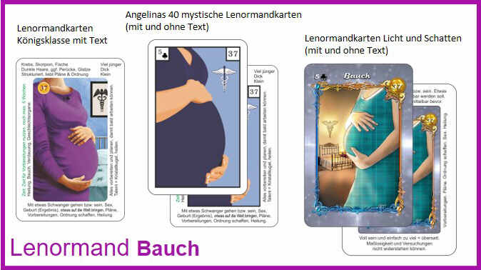 Lenormand Bauch - Kartendeck